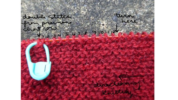 short row fo cool boots pattern